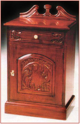 Carved Door Cabinet