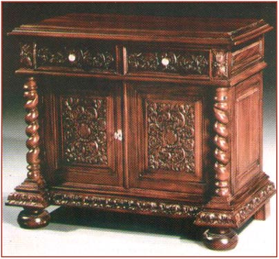 2 Door Carved Cabinet - Click Image to Close