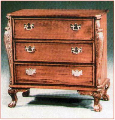 Chippendale Chest 3 Drawer