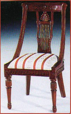 Side Chair with Neoclassic Carving