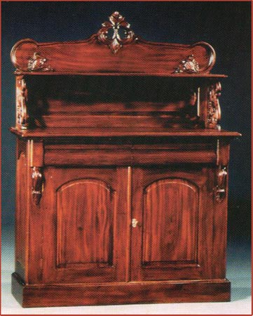 2 Door Chiffonier Buffet w/Top