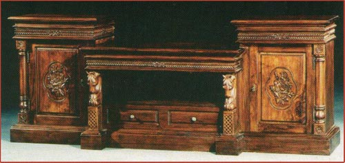 2 Door Buffet Carved w/ 2 Drawer