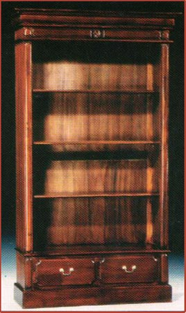 Victorian Open Front Bookcase