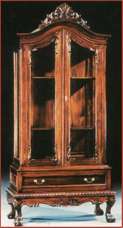Chippendale Cabinet with Drawer