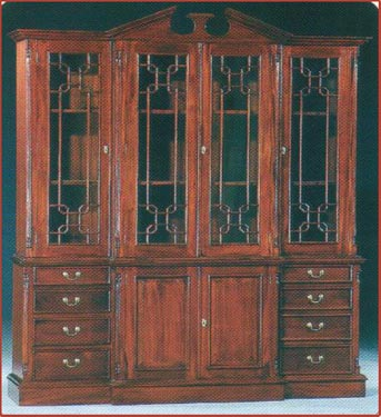 4 Doors Breakfront Bookcase 118