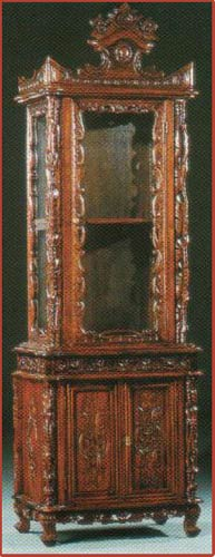 1 Door Baroque Display Cabinet