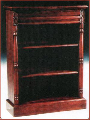 Victorian Open Front Bookcase Low