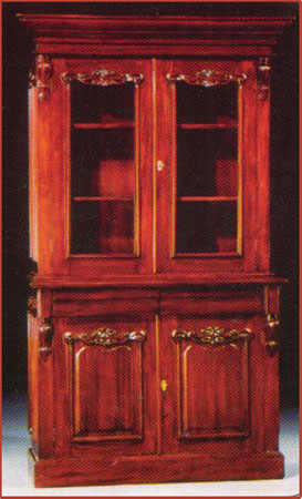 4 Door Victorian Bookcase