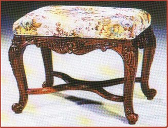 French Cross Frame Stool