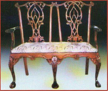 Chippendale 2 Seater New Gothic