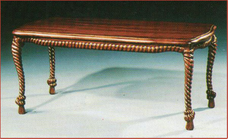 Rope Carved Coffe Table
