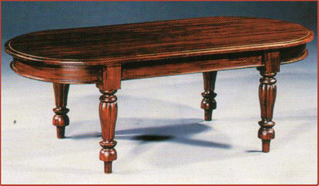 Fluted Leg Oval Coffee Table 140