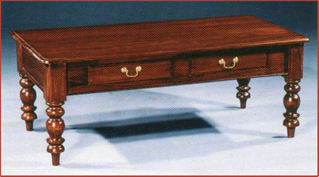 Colonial Coffee Table With Drawer Mj 610 Jangkar Navy Furniture The Art Of
