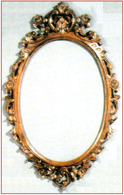 Large Carved Oval Mirror