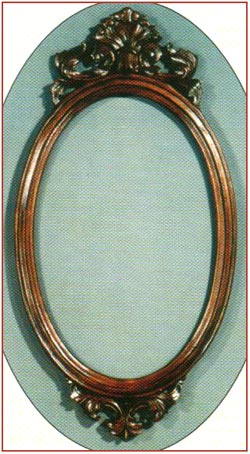 Small Plain Oval Mirror