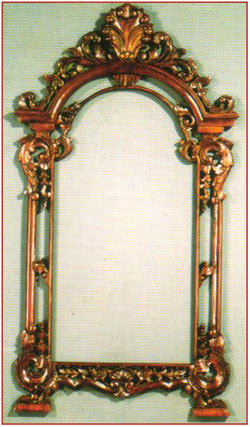 Shell Pediment Mirror