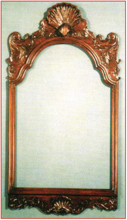 Chippendale Shell Carved Mirror