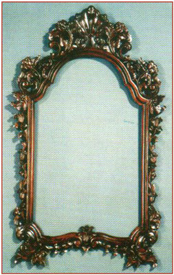 Heavy Carved Flower Mirror