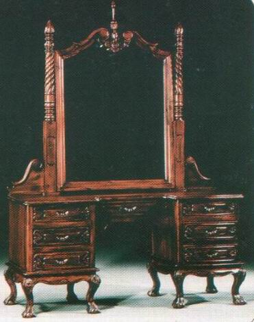 Chippendale Vanity Dressing Table