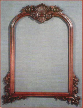 Shell Carved Mirror