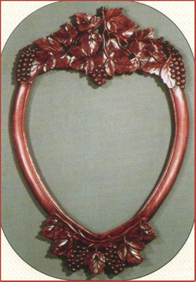 Grape Heart Carved Mirror