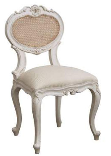 French Chair Heart w/Rattan
