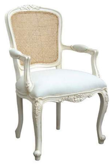 French Chair Rose w/Rattan