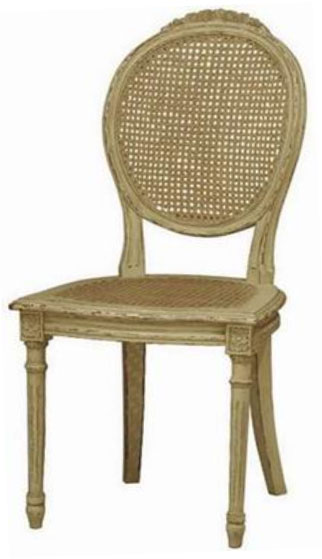 French Chair Oval w/Rattan