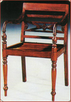 Rafles Chair Carver Mahogany