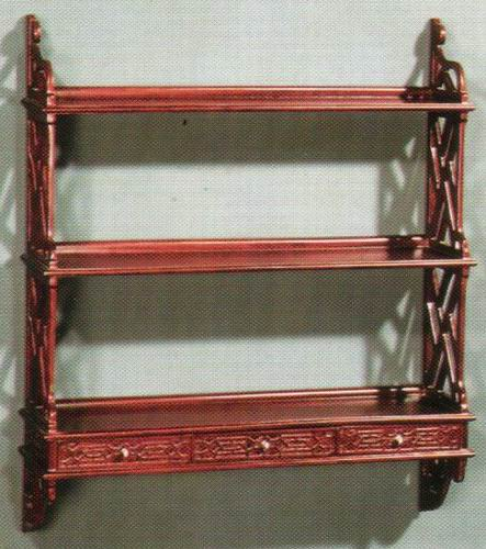 Wall Rack 3 Drawer Carved
