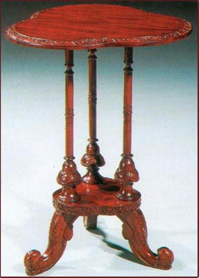 Irish Carved Clover Leaf Table