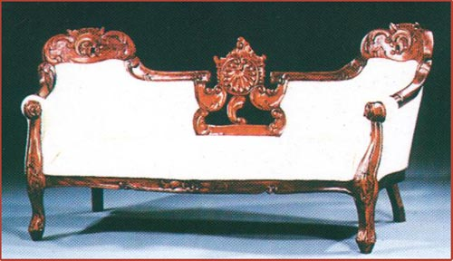 Heavy Carved Double Ended Sofa