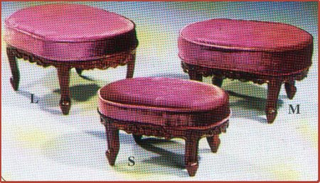 Victorian Oval Foot Stool 3 Pcs